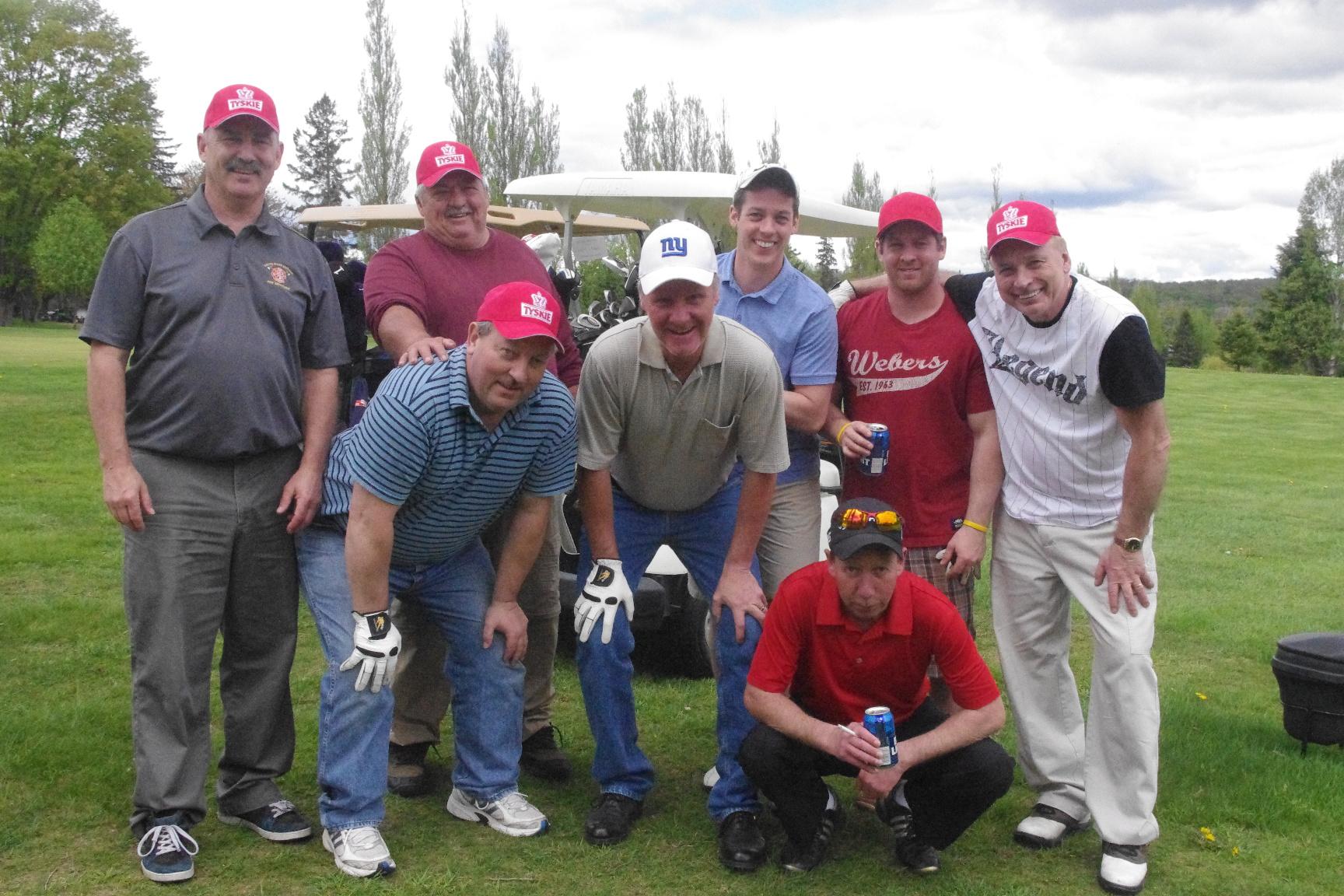 Men Group Golfer