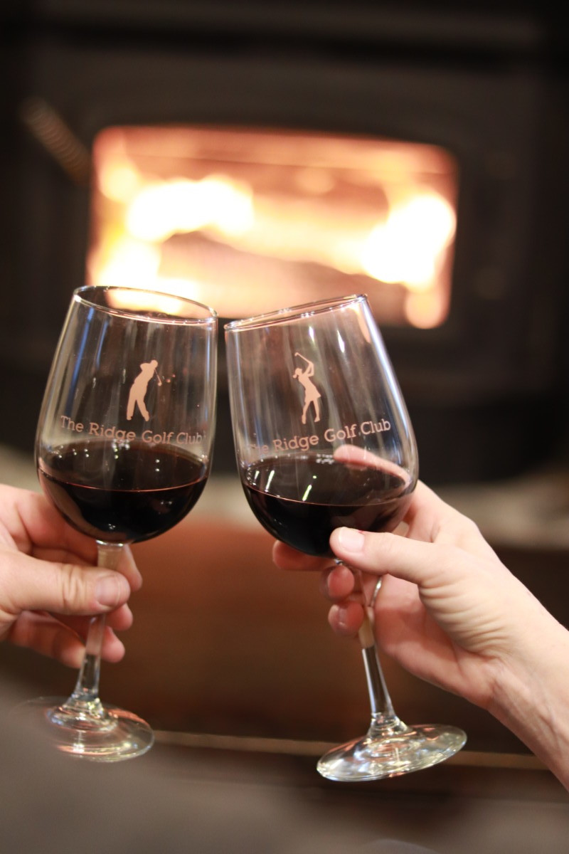 Wine Glass in front of fire